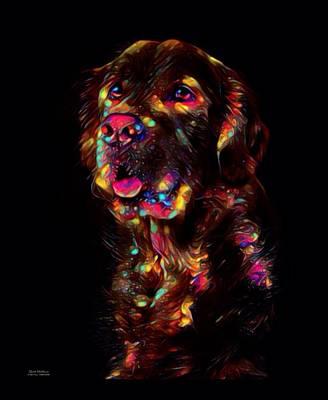 Golden Retriever Digital Art - Golden Retriever Color Splash  by Scott Wallace