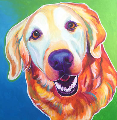 Golden Retriever - Daisy Mae Original by Alicia VanNoy Call
