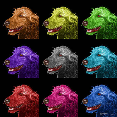 Painting - Golden Retriever Dog Art- 5421 - Bb - M by James Ahn