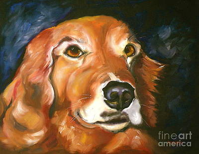 Golden Retriever Forever Friend Art Print by Susan A Becker