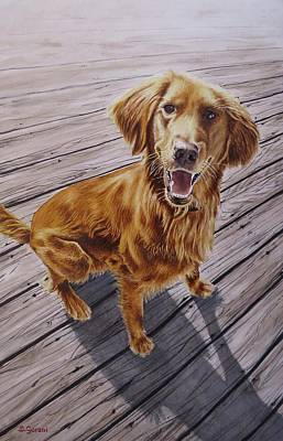 Painting - Golden Retriever by Geni Gorani