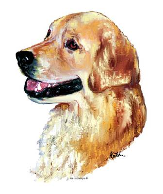 Retrievers Digital Art - Golden Retriever by Kathleen Sepulveda