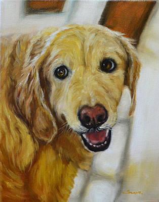 Golden Retriever Painting - Golden Retriever, Labrador, Retriever,  by Sun Sohovich
