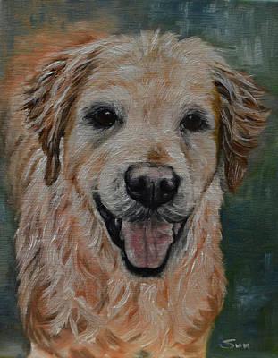 Golden Retriever Painting - Golden Retriever, Labrador,long Hair Retriever by Sun Sohovich