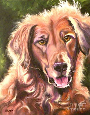 Golden Retriever More Than You Know Art Print by Susan A Becker