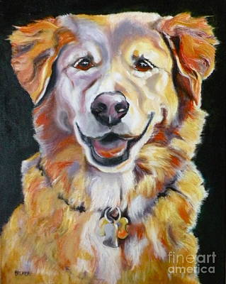 Golden Retriever Most Huggable Art Print by Susan A Becker