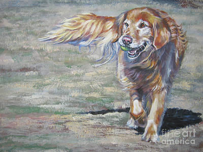 Painting - Golden Retriever Play Time by Lee Ann Shepard