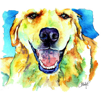 Painting - Golden Retriever Portrait by Christy Freeman Stark