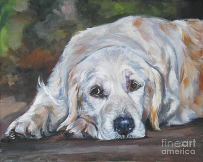 Golden Retriever Painting - Golden Retriever Resting by Lee Ann Shepard