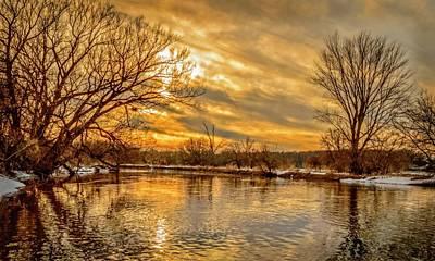 Photograph - Golden River by Garvin Hunter