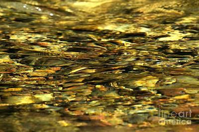 Golden River Rocks Art Print by Adam Jewell