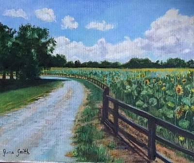 Painting - Golden Road by Gloria Smith