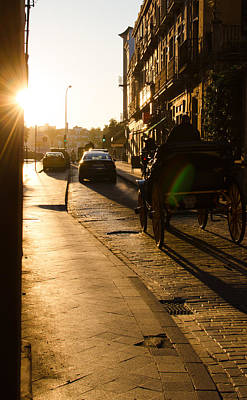 Photograph - Golden Roads At Sunset by Andrea Mazzocchetti