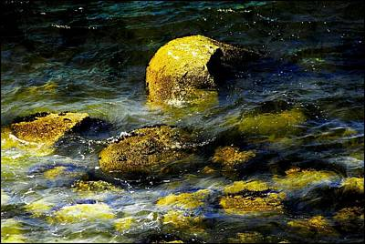Photograph - Golden Rocks by Bill Howard