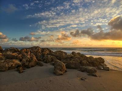 Photograph - Golden Rocks by Juan Montalvo