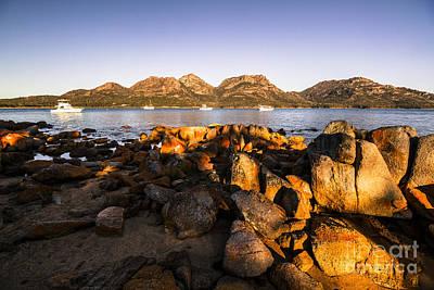 Beach Landscape Photograph - Golden Rocky Beachfront by Jorgo Photography - Wall Art Gallery