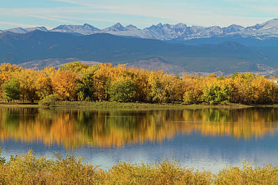 Photograph - Golden Rocky Mountain Front Range View by James BO Insogna