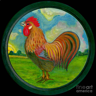 Polonia Artists Painting - Golden Rooster by Anna Folkartanna Maciejewska-Dyba