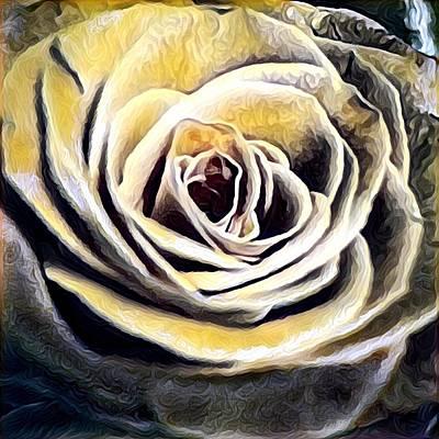 Digital Art - Golden Rose by Gayle Price Thomas