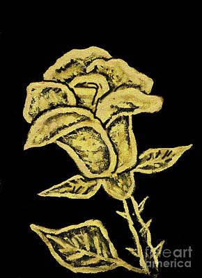 Painting - Golden Rose, Painting by Irina Afonskaya