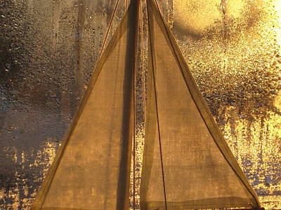 Golden Sails Art Print by Lori  Secouler-Beaudry