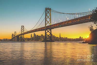 Golden San Francisco Art Print by JR Photography