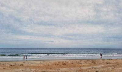 Photograph - Golden Sand And Blue Ocean by Mary Capriole
