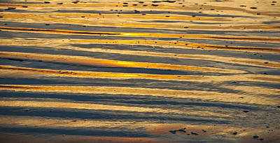 Golden Sand On Beach Art Print