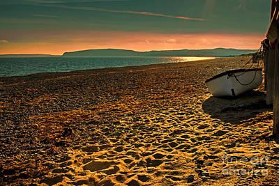 North Wales Digital Art - Golden Sands Pwllheli by Chris Evans
