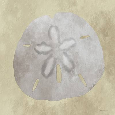 Digital Art - Golden Sandy Dollar by Wally Boggus