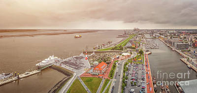 Photograph - Golden Sea Of Bremerhaven by JR Photography