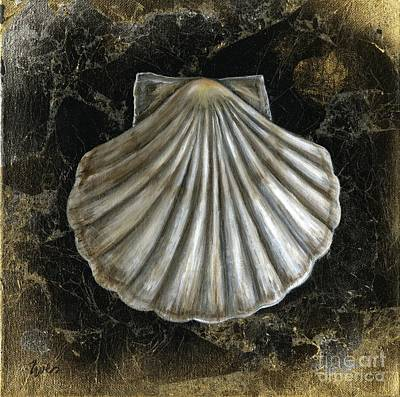 Golden Shell Art Print