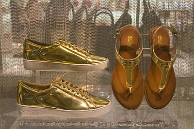 Photograph - Golden Shoes by Carlos Diaz