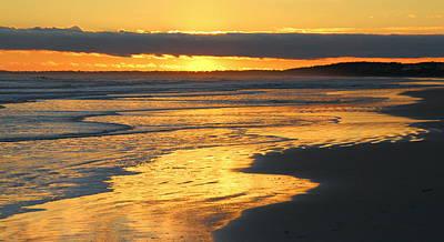 Photograph - Golden Shore by Rosanne Jordan
