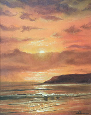 Painting - Golden Shoreline by Frank Strasser