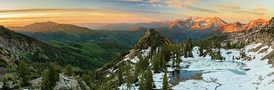 Photograph - Golden Silver Glance Lake Panorama. by Johnny Adolphson