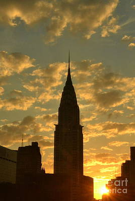 Photograph - Golden Skies - New York Sunset by Miriam Danar