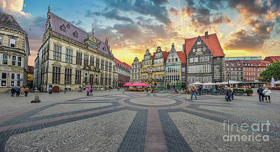Golden Skies Of Bremen Art Print by JR Photography