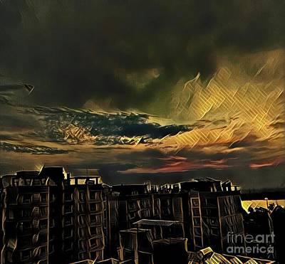 Photograph - Golden Sky by Rizwana Mundewadi