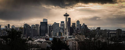 Golden Sky Seattle Art Print by Chris McKenna