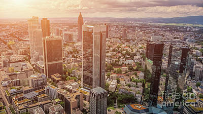 Photograph - Golden Skyscrapers Of Frankfurt by JR Photography