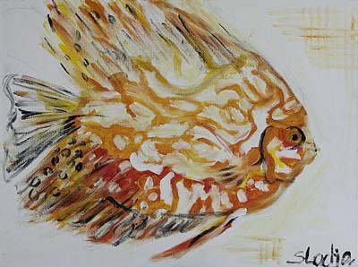 Golden Art Print by Sladjana Lazarevic