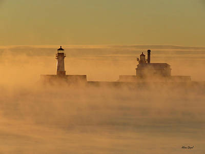 Duluth Photograph - Golden Smoke by Alison Gimpel