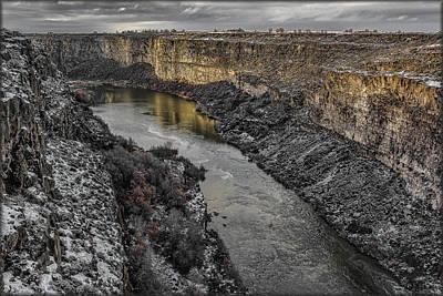 Photograph - Golden Snake River by Erika Fawcett