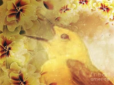Digital Art - Golden Song Of Summer by Maria Urso