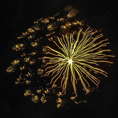 Photograph - Golden Fireworks by Paula Porterfield-Izzo