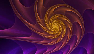 Abstract Digital Art - Golden Spiral by Anna Bliokh