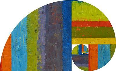 Circle Digital Art - Golden Spiral Study by Michelle Calkins