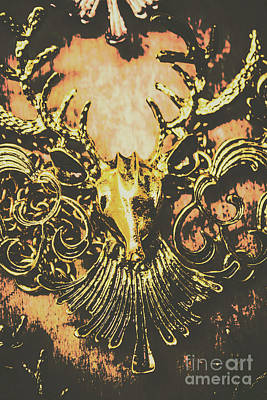 Golden Stag Art Print