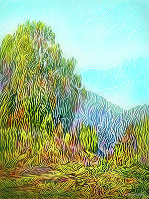 Digital Art - Golden State Mountain Vista by Joel Bruce Wallach